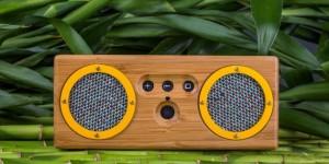 Le boitier de cette enceinte portable Bongo est fabriqué à base de bambou